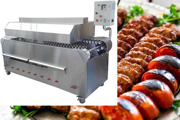 Fully automatic kebab grill machine