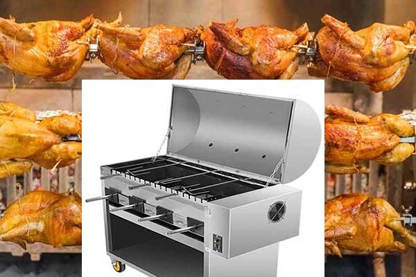 Charcoal chicken grill machine