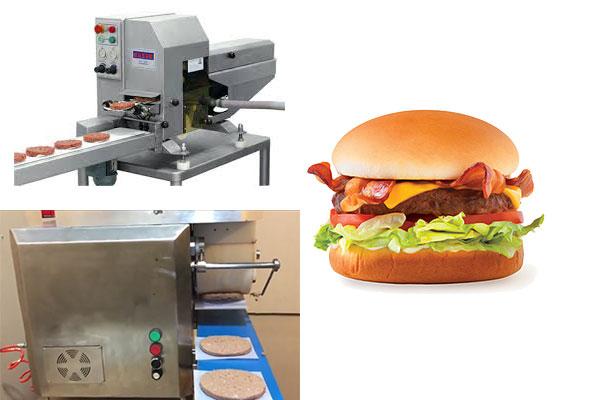 Automatic hamburger making machine